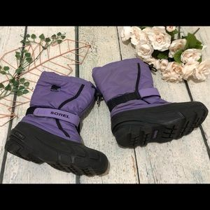 Sorel children's winter boots 3 purple lined snow